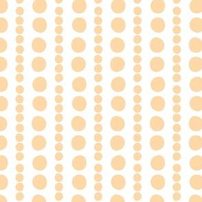 orange on white pebbles