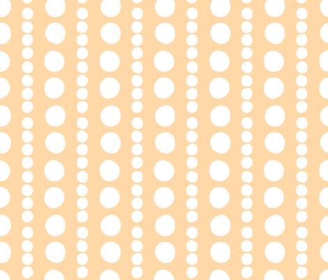 white on orange pebbles fabric by christiem on Spoonflower - custom fabric
