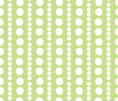 white on grass pebbles fabric by christiem on Spoonflower - custom fabric