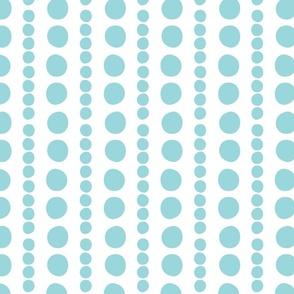 turquoise on white pebbles