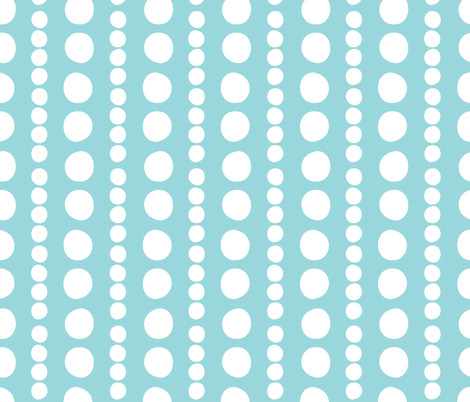 white on turquoise pebbles fabric by christiem on Spoonflower - custom fabric