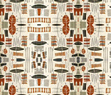Tiki Tropical  fabric by flyingfish on Spoonflower - custom fabric