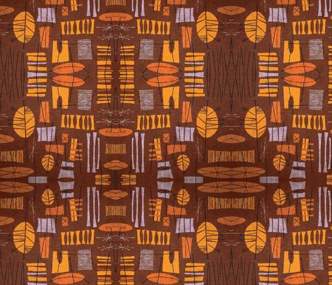 Tiki Village-ch fabric by flyingfish on Spoonflower - custom fabric