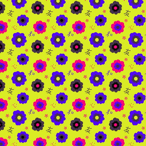 Japanese Flowers fabric by eppiepeppercorn on Spoonflower - custom fabric