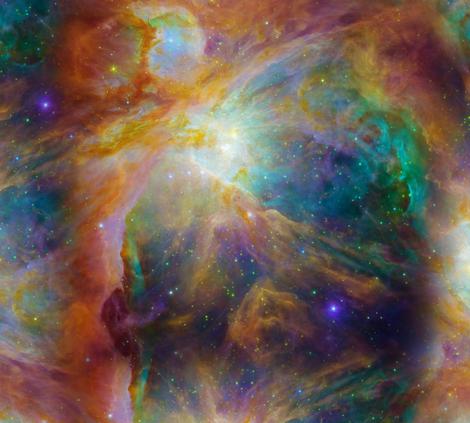 Orion Nebula fabric by jaana on Spoonflower - custom fabric