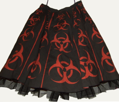 Cut-and-sew bouffant skirt, Ostrich cart