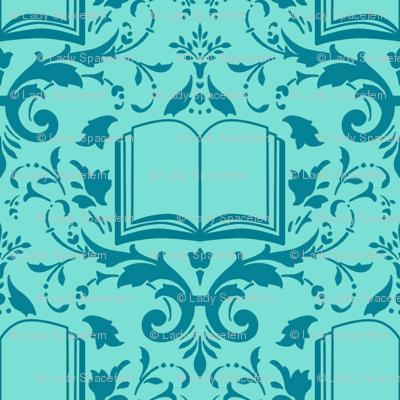 Book Damask Aquamarine
