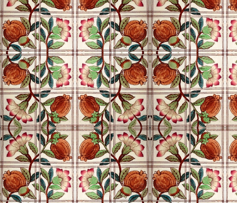 Moroccan Pomegranate fabric by flyingfish on Spoonflower - custom fabric