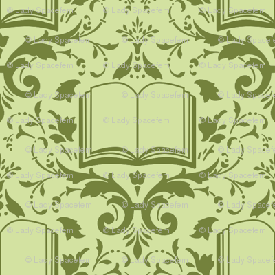 Book Damask Green