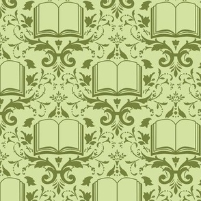 Book Damask Green