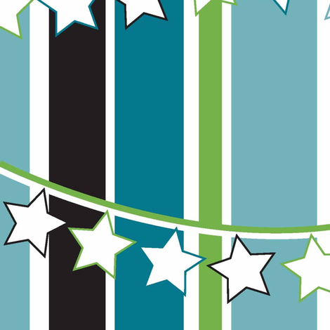 Bunting Stripes fabric by designedtoat on Spoonflower - custom fabric