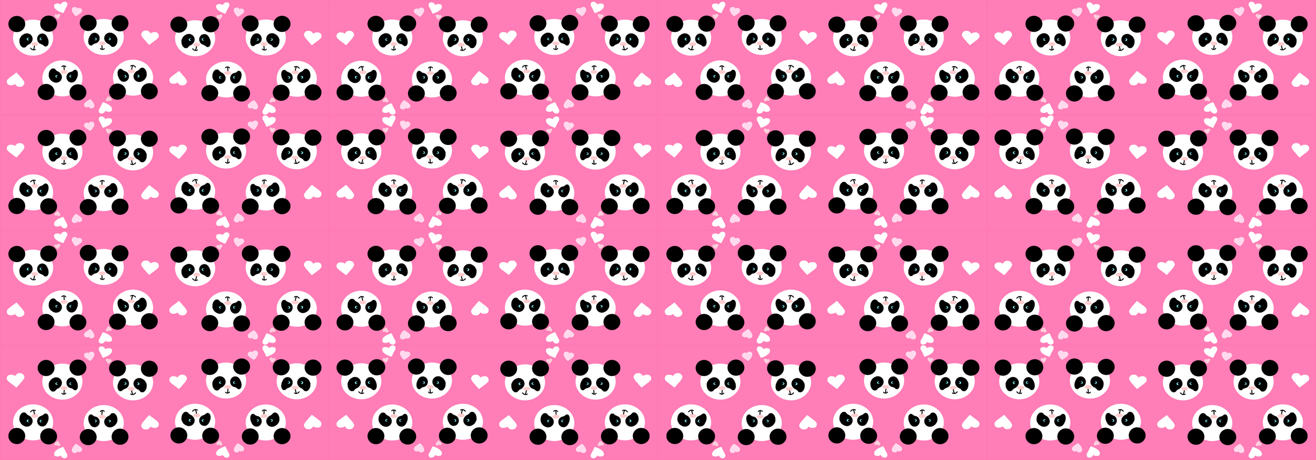 Panda Love Pink Small Giftwrap