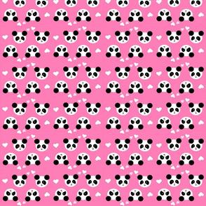 Panda Love Pink Small
