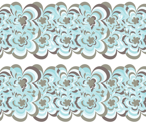 concentric-blooms8 fabric by owlandchickadee on Spoonflower - custom fabric