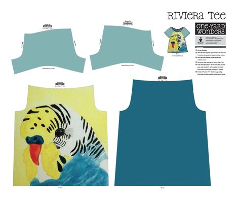 Budgie Top fabric by owlandchickadee on Spoonflower - custom fabric