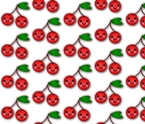 CHERRIES fabric by scorpiusblue on Spoonflower - custom fabric