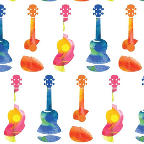 Ukuleles - Watercolor