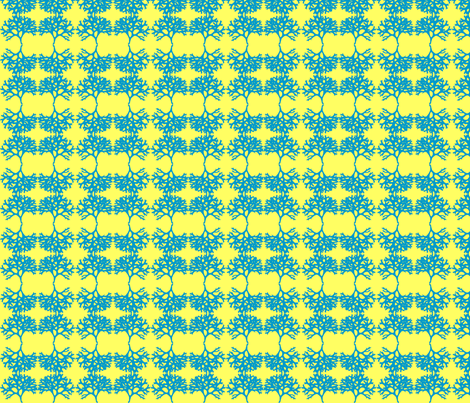 moss yellow and blue fabric by weebeastiecreations on Spoonflower - custom fabric