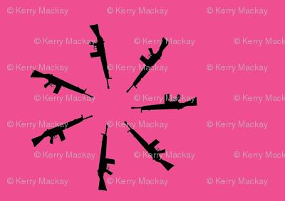 gun flower pink