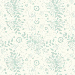 light blue clean floral