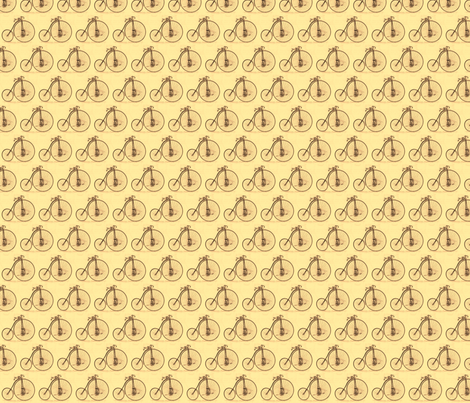 penny farthing tea fabric by weebeastiecreations on Spoonflower - custom fabric