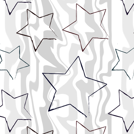 Grey Stars and Stripes fabric by reannalilydesigns on Spoonflower - custom fabric