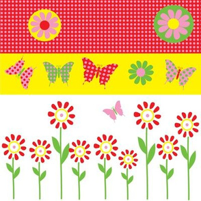 Butterfly bright garden