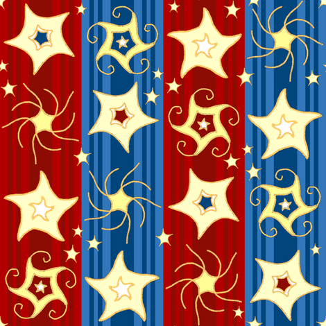 Embroidered_Swirling_and_Twirling_Stars_stripes_red blue2C fabric by khowardquilts on Spoonflower - custom fabric