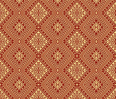 Tribal Diamonds Brown fabric by flyingfish on Spoonflower - custom fabric