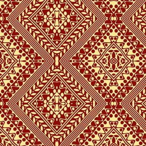 Tribal Diamonds Brown