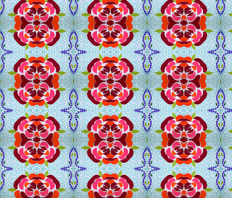 Rosy Mosaic fabric by flyingfish on Spoonflower - custom fabric