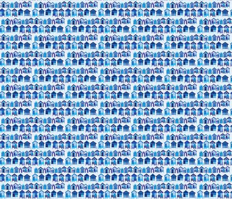 beach_huts_blue fabric by owls on Spoonflower - custom fabric