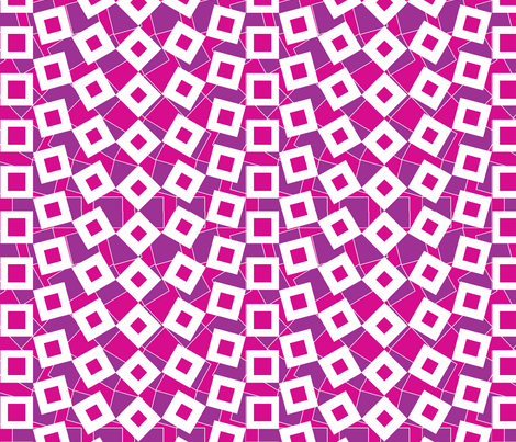 squared_away-raspberry fabric by glimmericks on Spoonflower - custom fabric