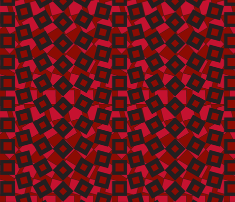 squared_away-strawberry fabric by glimmericks on Spoonflower - custom fabric