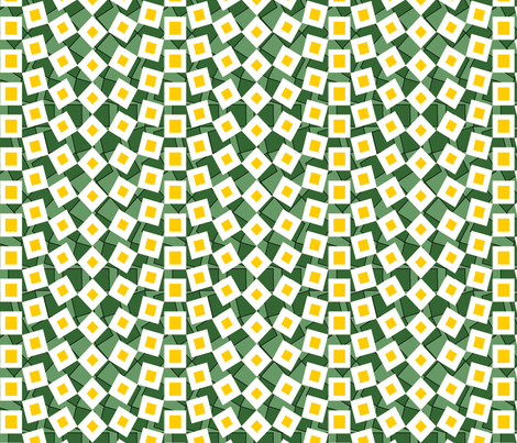 squared away daisy fabric by glimmericks on Spoonflower - custom fabric