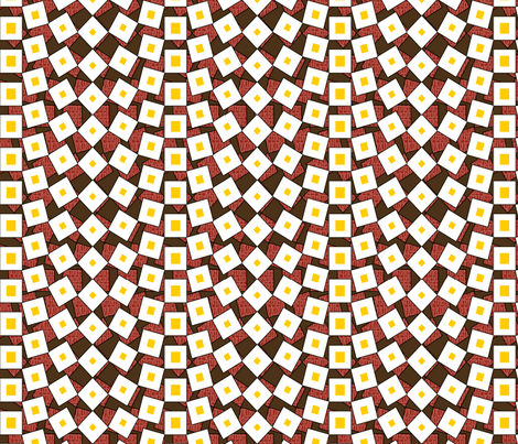 squared_away_eggs_and_bacon fabric by glimmericks on Spoonflower - custom fabric