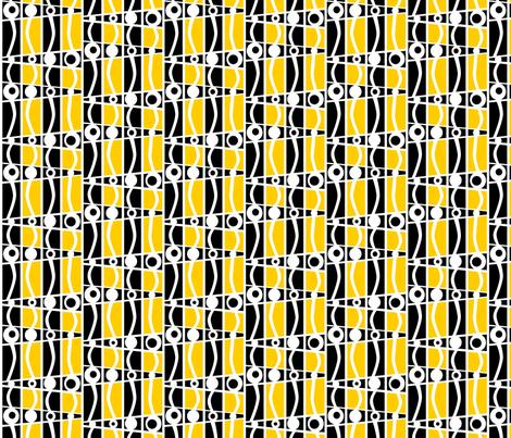 striped_mod_gold fabric by glimmericks on Spoonflower - custom fabric