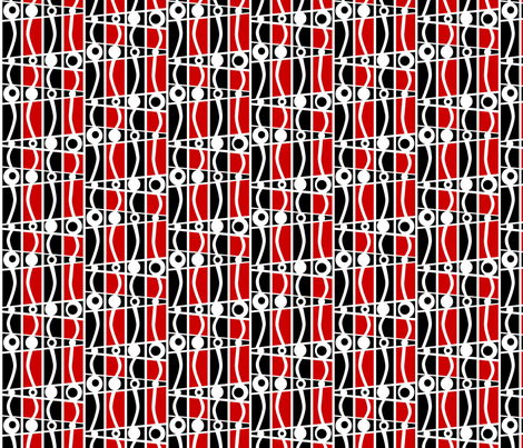 striped_mod_red fabric by glimmericks on Spoonflower - custom fabric
