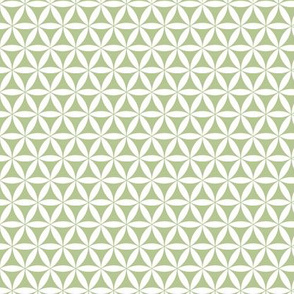 Flower of Life, Green/White simplicity