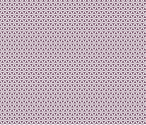 Flower of Life, Plum/White simplicity fabric by andrea11 on Spoonflower - custom fabric