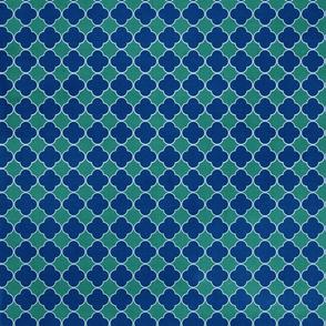 deep blue crested textile