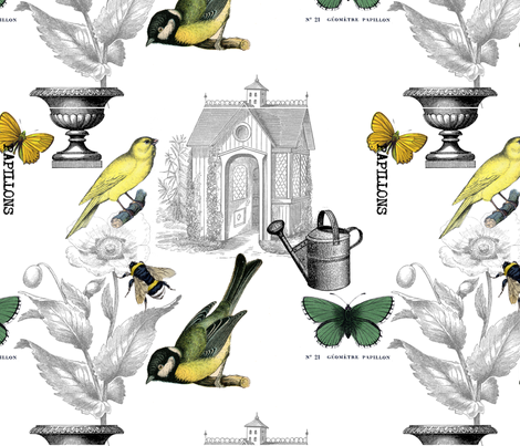 In the Garden fabric by victoriagolden on Spoonflower - custom fabric