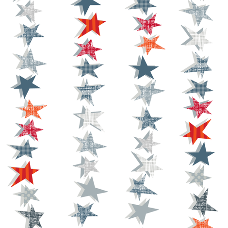 Stars in Stripes fabric by spellstone on Spoonflower - custom fabric