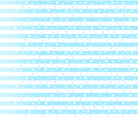 Pastel Blue Stars and Stripes fabric by lovelylatte on Spoonflower - custom fabric