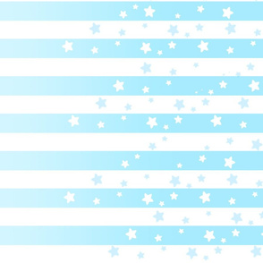 Pastel Blue Stars and Stripes
