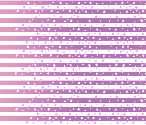 Purple Stars and Stripes fabric by lovelylatte on Spoonflower - custom fabric