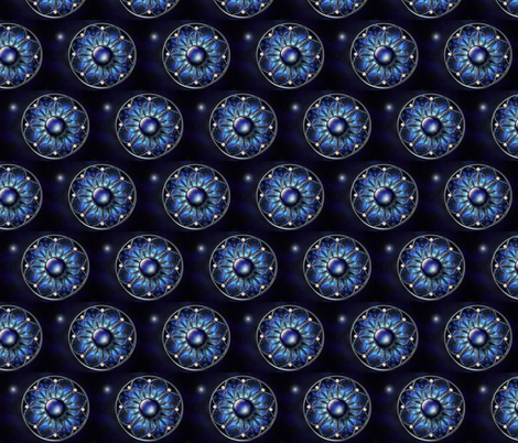 blue_black_fractal_diamond fabric by vinkeli on Spoonflower - custom fabric