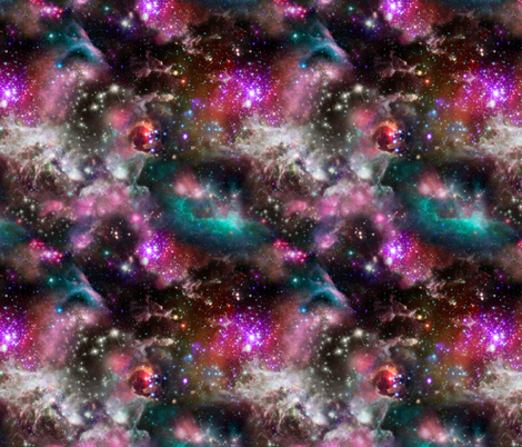 Space Collage fabric by teja_jamilla on Spoonflower - custom fabric