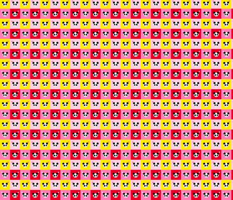 Panda Love Bright Mix Small fabric by johanna_lange_designs on Spoonflower - custom fabric