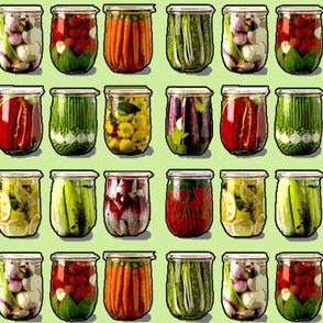 Pickled vegetables green